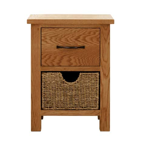 sidmouth oak 2 drawer bedside table