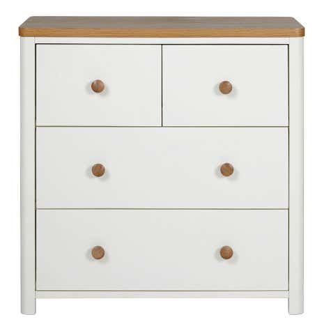 Kids Morgan Oak 4 Drawer Chest