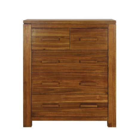 Seville Acacia Dark Wood Chest of Drawers