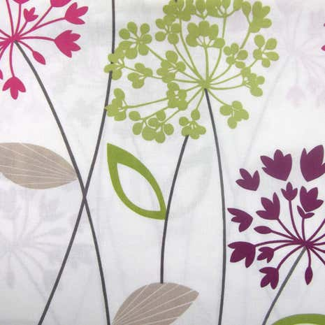 Plum Allium PVC Fabric