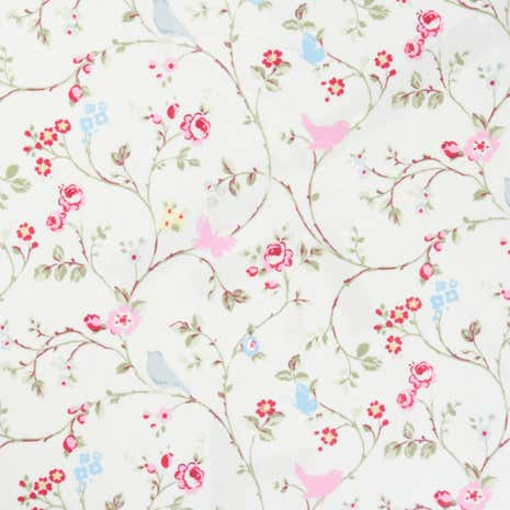Grey Bird Trail PVC Fabric