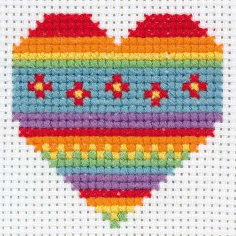 Anchor Kids Heart Cross Stitch Kit