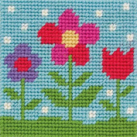 Anchor Kids Floral Cross Stitch Kit