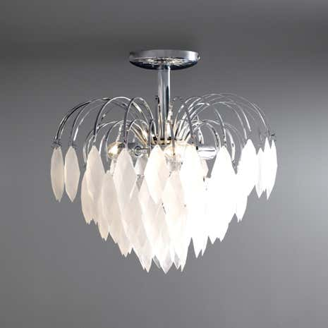 Acrylic Frosted Ice 3 Light Ceiling Fitting