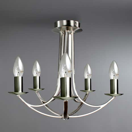 Avery Satin 5 Ceiling Light Fitting