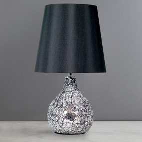 Small Crackle Glass Table Lamp