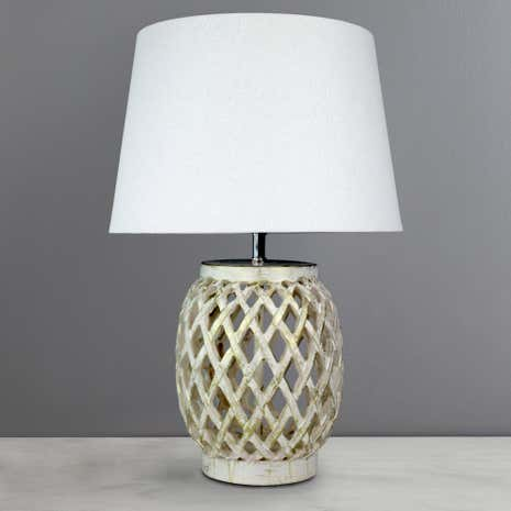 Lattice Resin Table Lamp