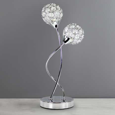 Sphere 2 light chrome table lamp dunelm sphere 2 light chrome table lamp aloadofball Gallery