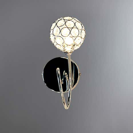 Sphere 1-Light Chrome Wall Fitting
