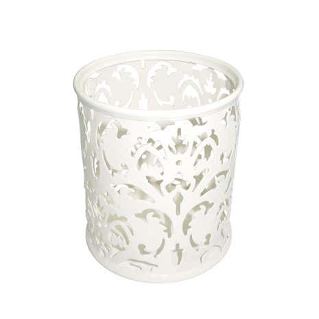 Cream Floral Pen Holder