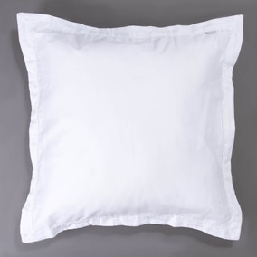 Dorma 350 Thread Count Cotton Satin Plain Dye White Continental Pillowcase