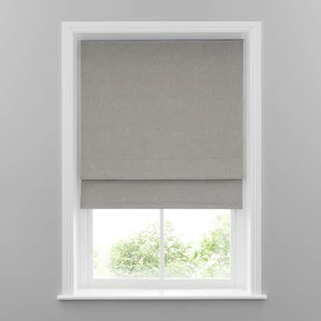 Grey Linen Blackout Roman Blind