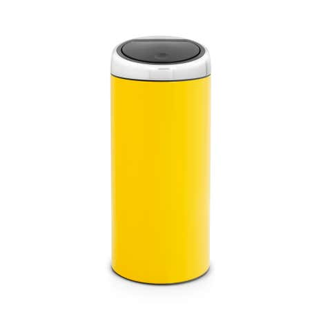 Brabantia Yellow 30-Litre Lacquered Steel Touch Bin