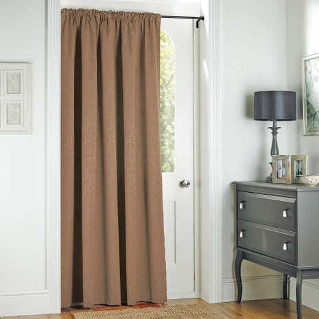 Toledo Mocha Thermal Door Curtain
