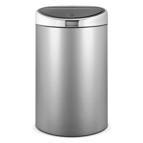 Brabantia Metallic Grey 40 Litre Touch Bin