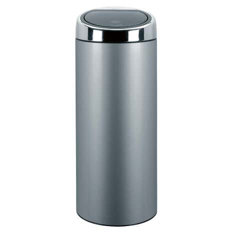 Brabantia Grey 30 Litre Stainless Steel Touch Bin