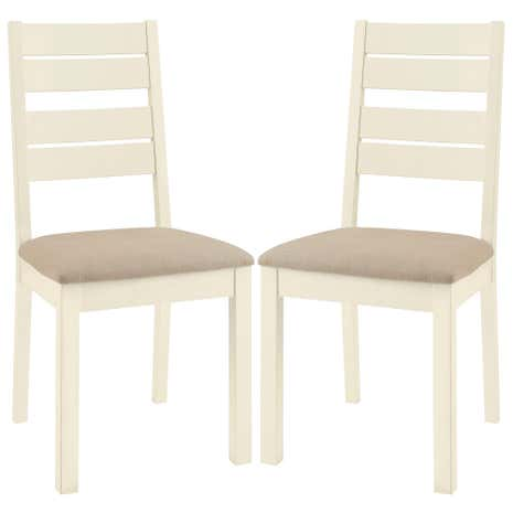 Penzance Oak Two Tone Pair of Slatted Chairs