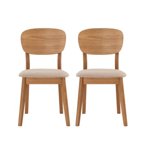 Skandi Oak Pair of Chairs