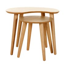Skandi Oak Nest of Lamp Tables