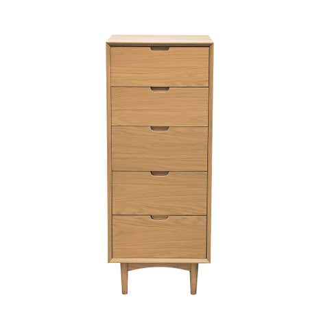 Skandi Oak Tall Chest Of Drawers