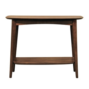 Skandi Walnut Console Table with Shelf
