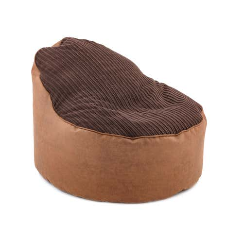 Chocolate Jumbo Cord Opal Bean Chair