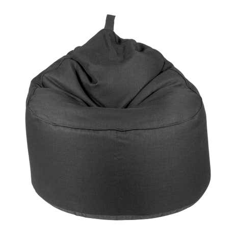 Linoso Black Lounger Bean Bag