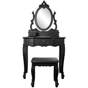 Toulouse Black Dressing Table Set