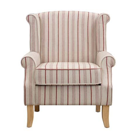 Edinburgh Red Stripe Armchair