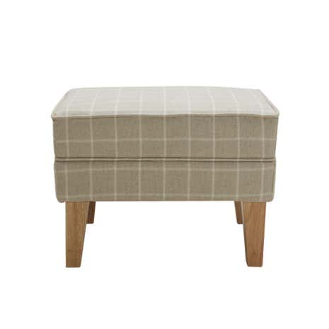 Natural Check Edinburgh Footstool. loz_exclusive_to_dunelm  sc 1 st  Dunelm : foot stool with storage - islam-shia.org