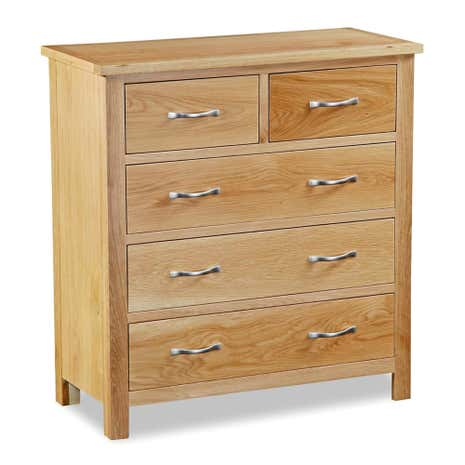 Hampshire Oak 5 Drawer Chest