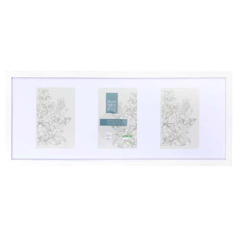 White Box 3 Aperture Photo Frame