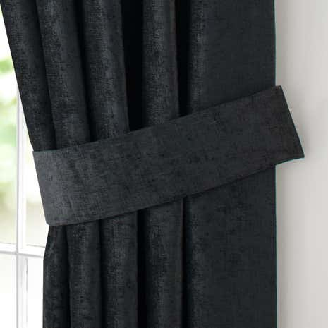 Chenille Black Tiebacks