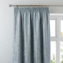 Duck Egg Chenille Lined Pencil Pleat Curtains
