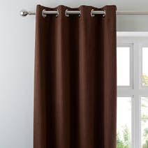 Chocolate Solar Blackout Eyelet Curtains