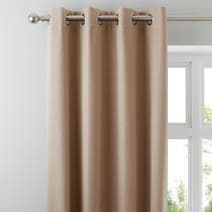 Biscuit Solar Blackout Eyelet Curtains