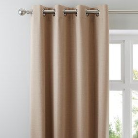 Solar Biscuit Blackout Eyelet Curtains