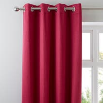 Fuchsia Solar Blackout Eyelet Curtains
