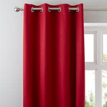 Solar Red Blackout Eyelet Curtains