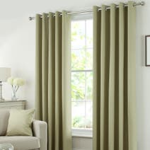 Solar Green Blackout Eyelet Curtains