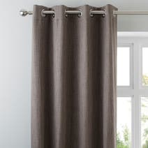 Stone Solar Blackout Eyelet Curtains