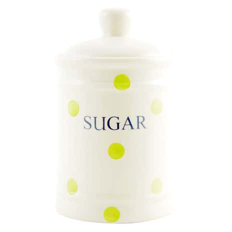 Country Sage Spot Sugar Storage Jar