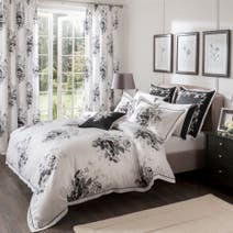 Dorma Black and White Gardenia Duvet Cover