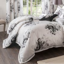 Dorma Black and White Gardenia Bedspread