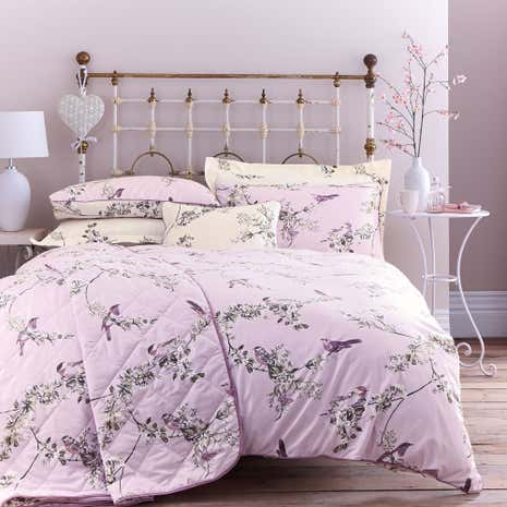 Beautiful Birds Heather Duvet Cover and Pillowcase Set