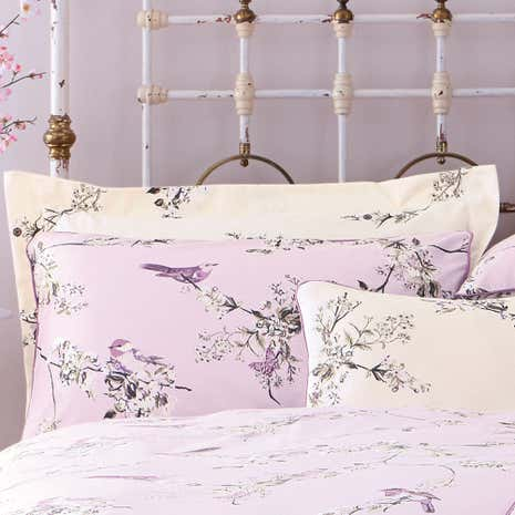 Beautiful Birds Heather Oxford Pillowcase