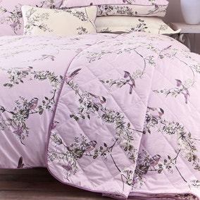 Beautiful Birds Heather Bedspread