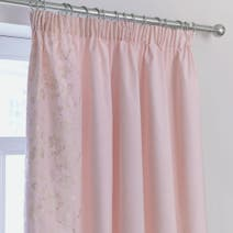 Dusky Pink Florentine Thermal Pencil Pleat Curtains