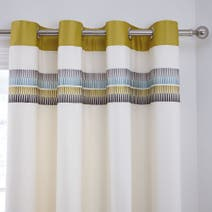 Montreal Green Thermal Eyelet Curtains