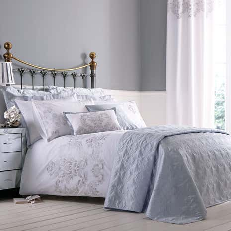 nina emboridered silver duvet cover dunelm. Black Bedroom Furniture Sets. Home Design Ideas